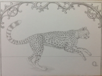 Marque Todd - Cheetah in Silverpoint